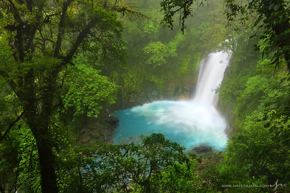 rio celeste, costa rica, blue, waterfall, tenorio volcano, river, , photo