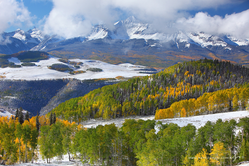 wilson peak, telluride, colorado, san juan mountains, san miguel range, fall, mount wilson, , photo
