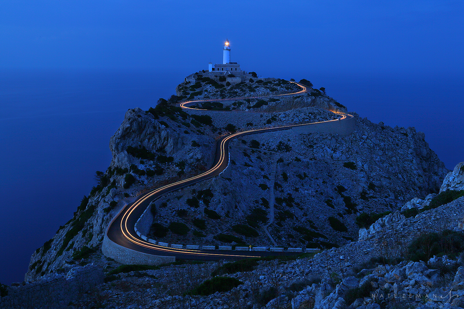 cap, cape, formentor, lighthouse, mallorca, spain, long exposure. , photo