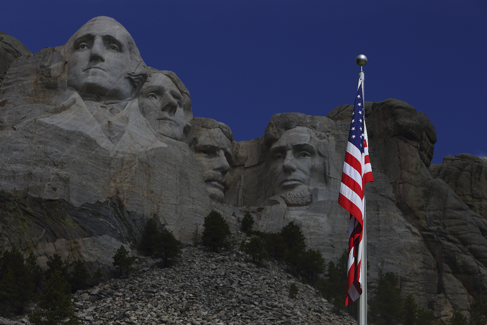 mount rushmore, mt, american flag, patriotic, , photo