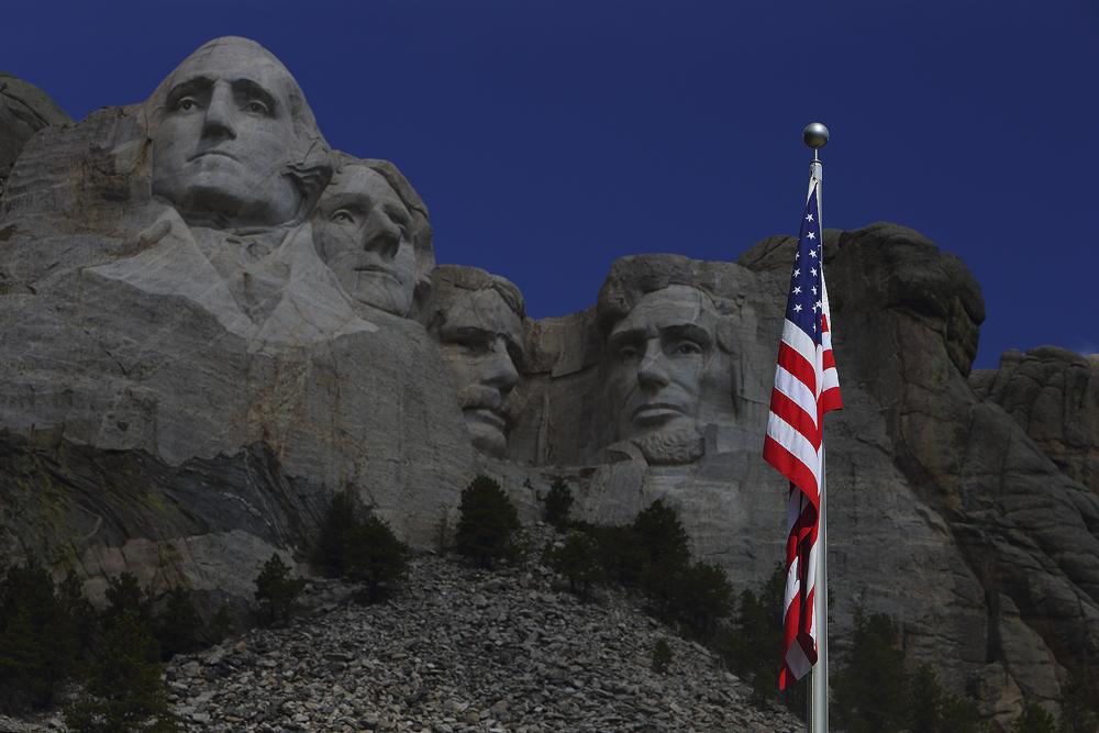 mount rushmore, mt, american flag, patriotic, , photo