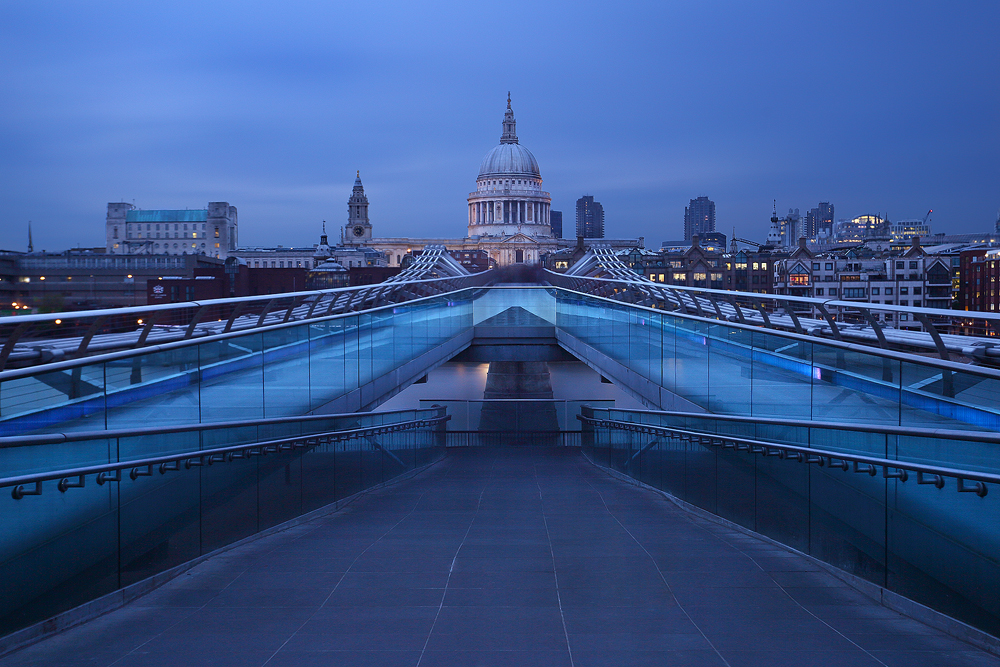 st pauls, cathedral, london, millennium bridge, london, england, modern, , photo