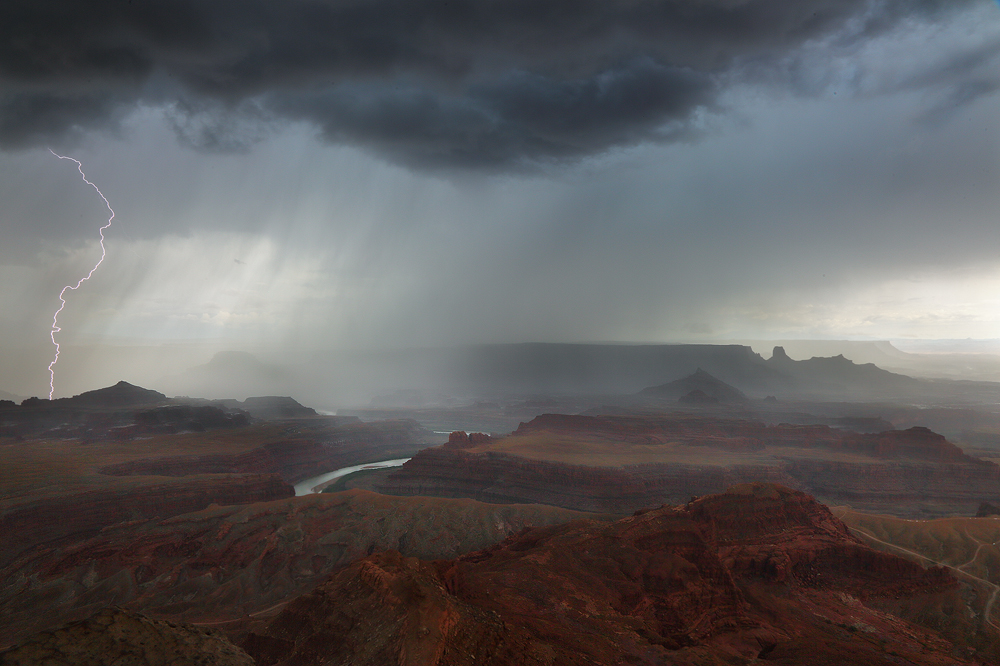 dead horse point, lightning, moab, utah desert, canyon lands, , photo