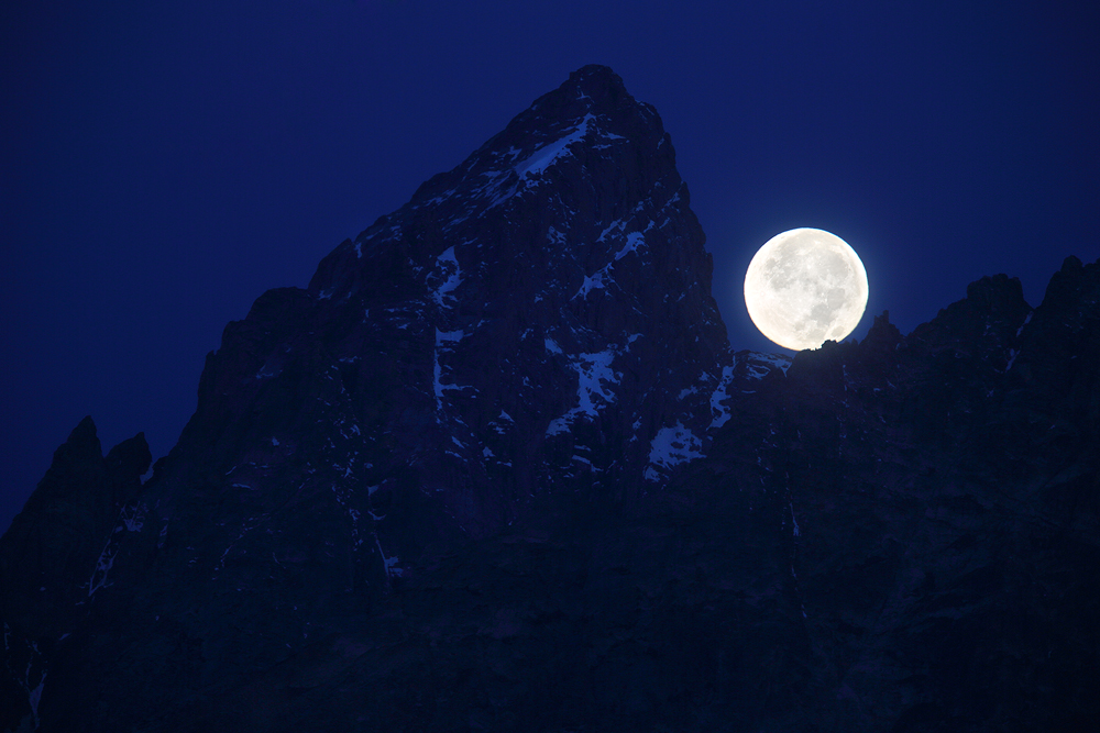 grand teton, grand teton national park, super moon, full, , photo