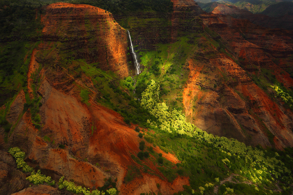 waipoo, waipo'o. waimea canyon, wai'ale'ale, waialeale, waterfall. , photo