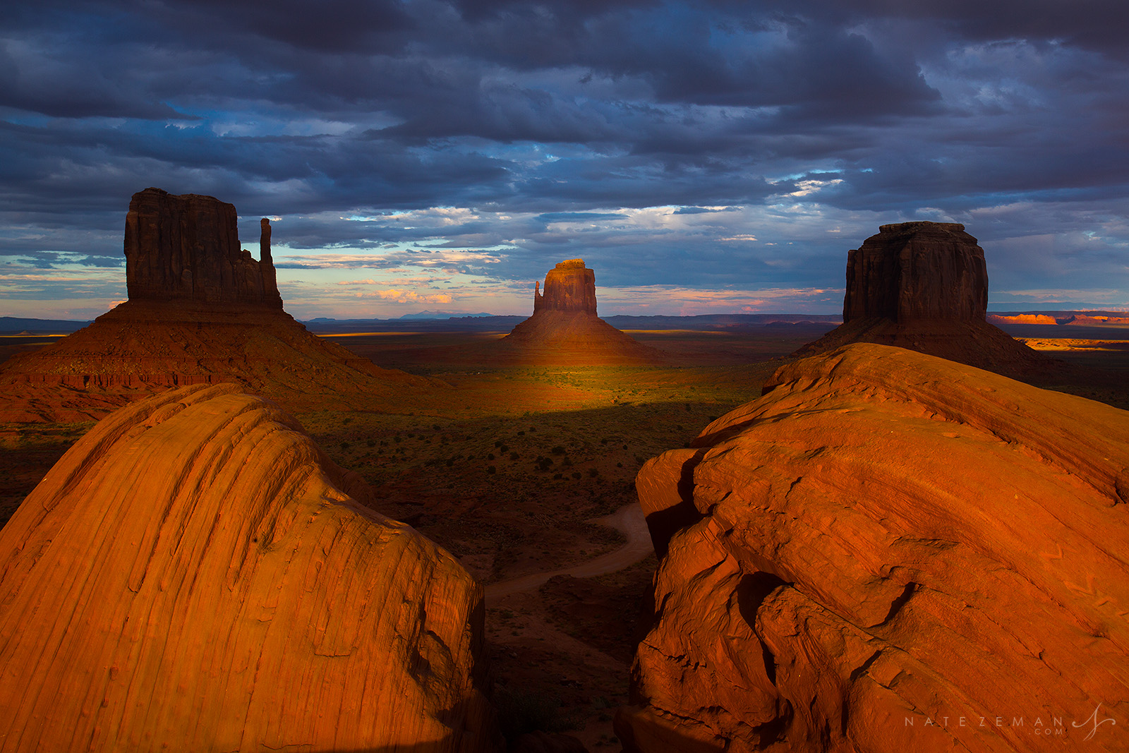 monument valley, arizona, east mitten, sunset, photograph, landscape, photo