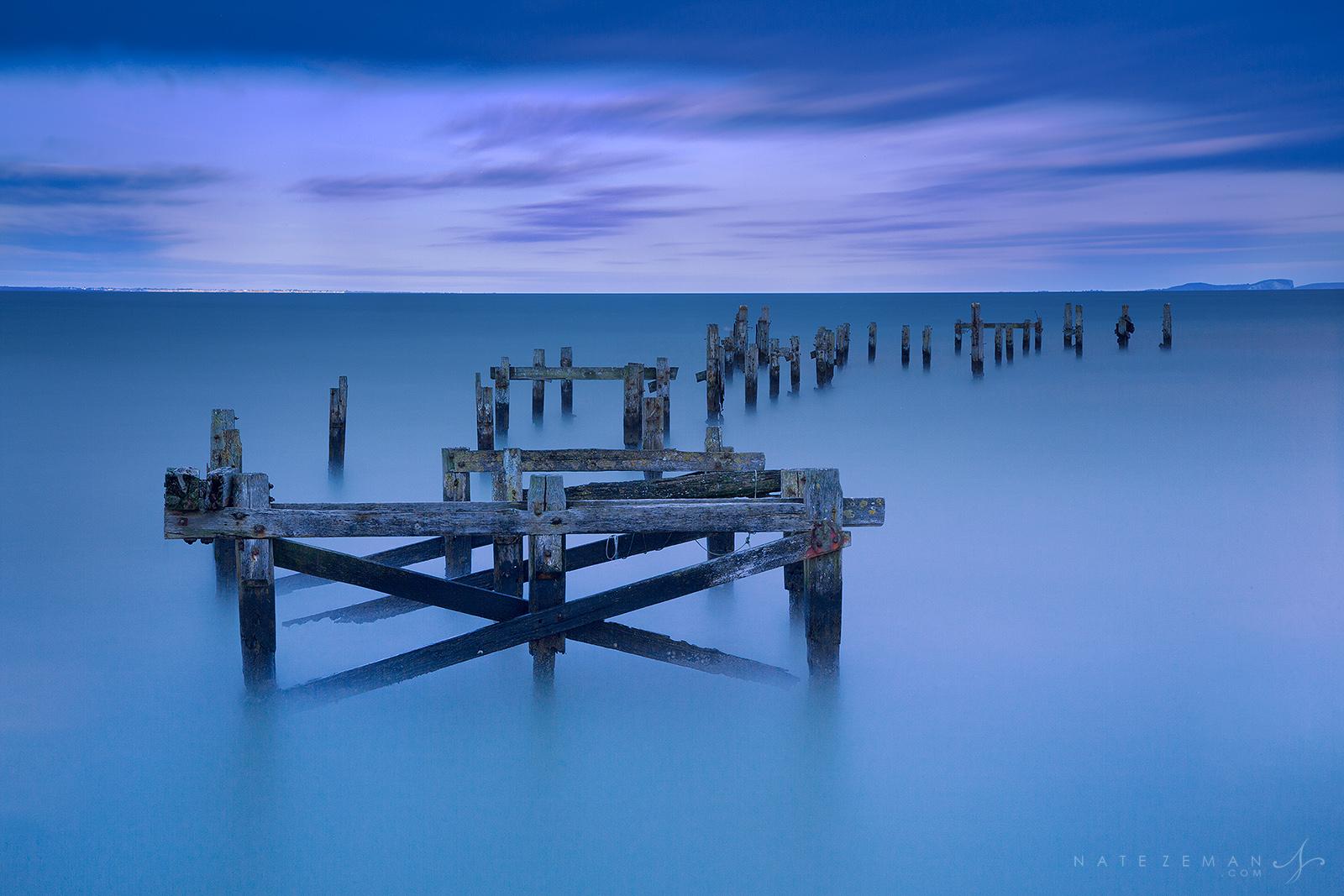 Swanage old pier, pier, long exposure, victorian, dorset, england, uk, sunset, photo