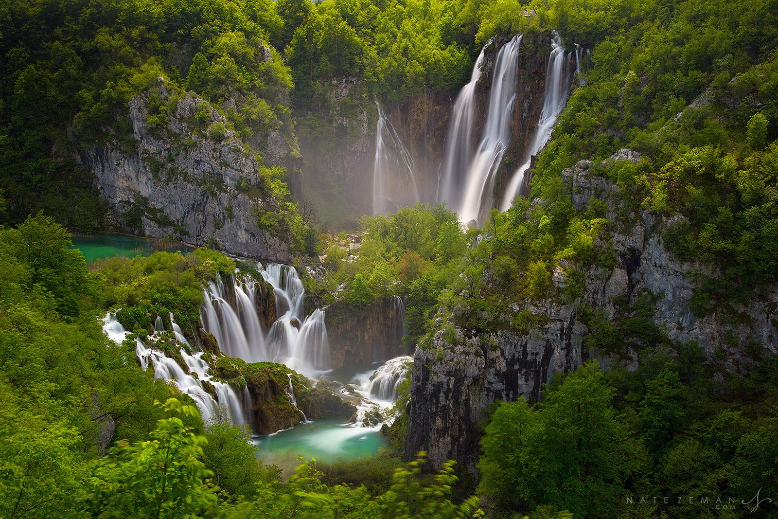plitvice lakes, plitvice national park, waterfalls, falls, cascades, croatia, waterfall, plitvika, , photo