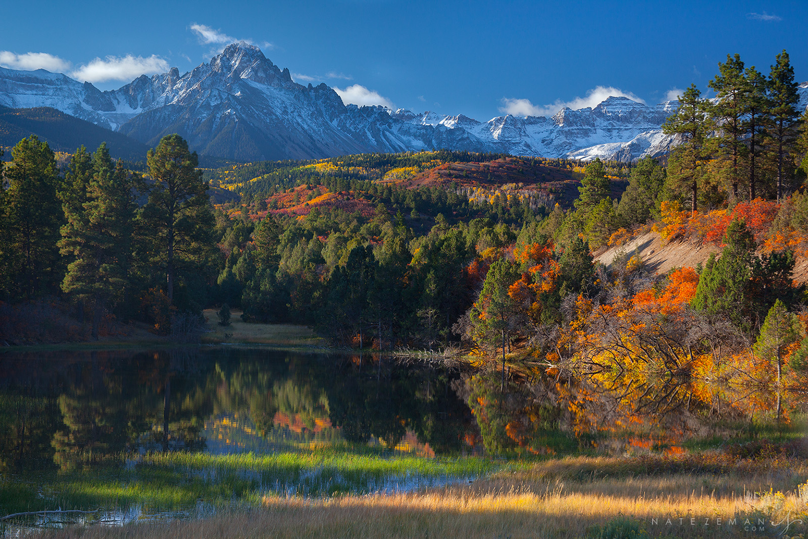 mt sneffels, autumn, fall, colorado autumn, san juan mountains, co, sniffles, pond, reflection, , photo
