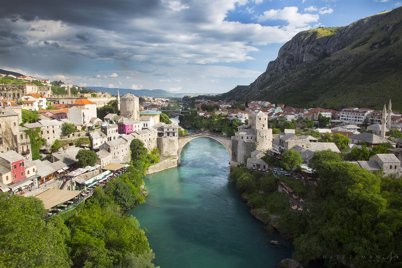 stari most, bosnia herzigovina, bosnia, bridge, old bridge, mosque view, neretva river, koski mehmed mosque, , photo