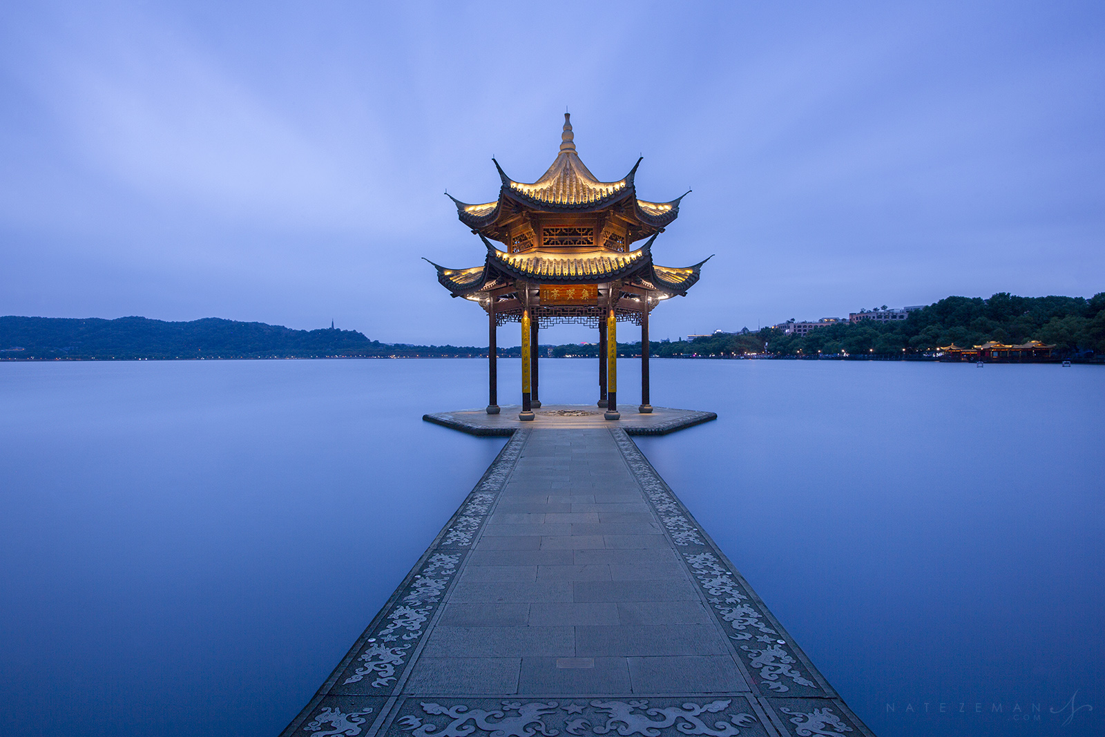 hangzhou, west lake, pagoda, china, pavilion, jixian, , photo