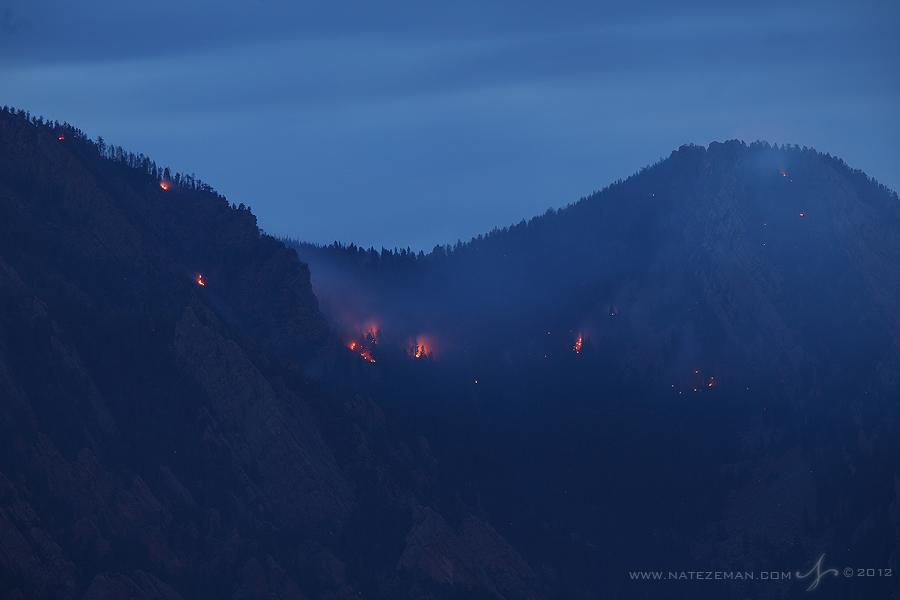 flagstaff, fire, boulder, co, colorado, flatirons, june, 28, 2012, wildfire, wild fire,, photo