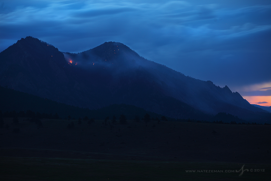 flagstaff, fire, boulder, co, colorado, flatirons, june, 28, 2012, wildfire, wild fire, , photo