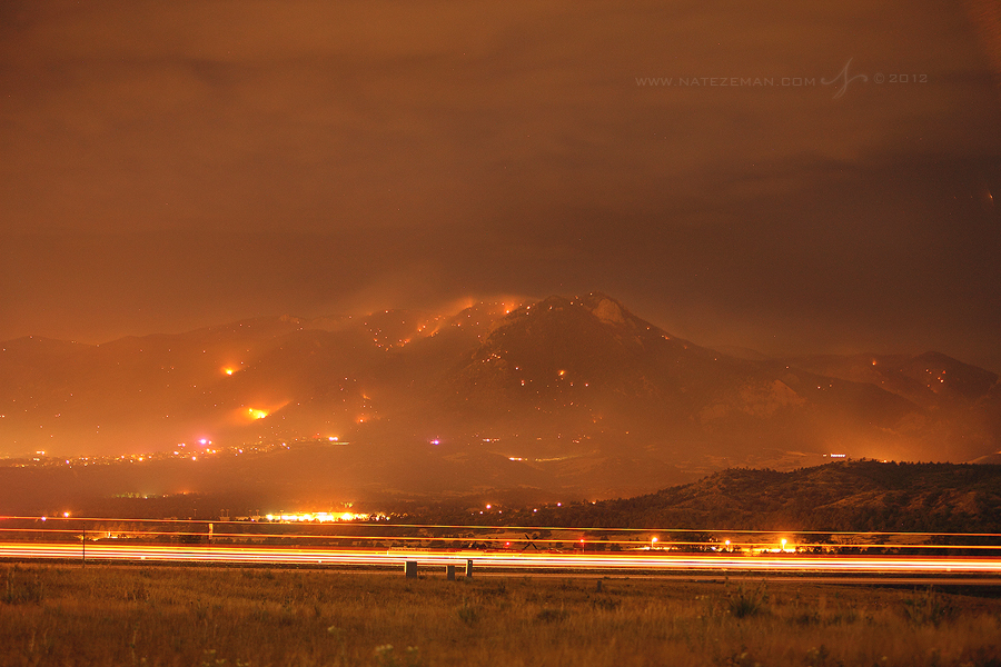 waldo, canyon, fire, colorado, springs, co, wildfire, wild, fire, smoke, june, 2012, 1-25, , photo