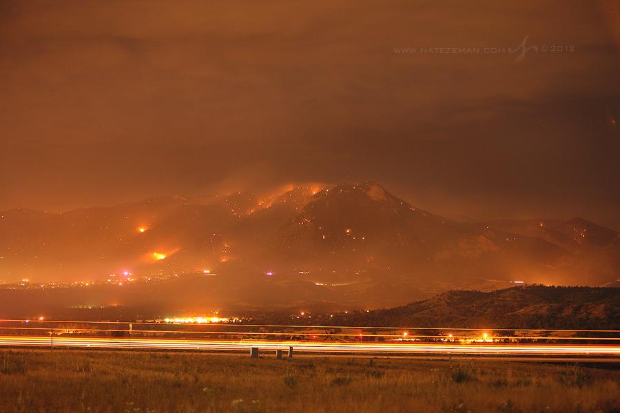 waldo, canyon, fire, colorado, springs, co, wildfire, wild, fire, smoke, june, 2012, 1-25, , photo